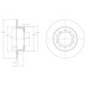 Тормозной диск DELPHI BG2799 - изображение