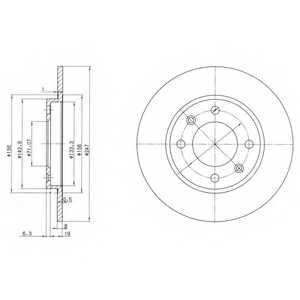 Тормозной диск DELPHI BG2800 - изображение