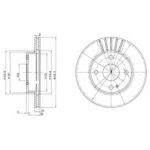 Тормозной диск DELPHI BG2802 - изображение