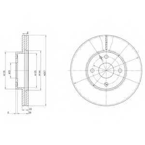 Тормозной диск DELPHI BG2804 - изображение