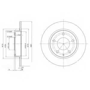 Тормозной диск DELPHI BG2806 - изображение