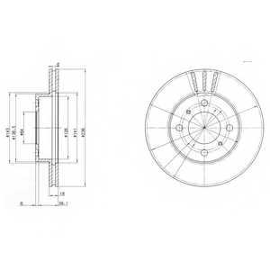 Тормозной диск DELPHI BG2810 - изображение
