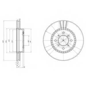 Тормозной диск DELPHI BG2814 - изображение