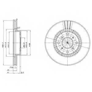 Тормозной диск DELPHI BG2815 - изображение