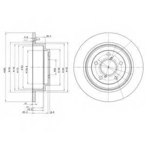 Тормозной диск DELPHI BG2826 - изображение