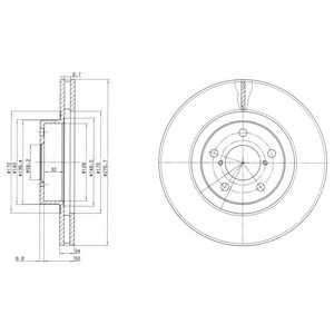Тормозной диск DELPHI BG2827 - изображение