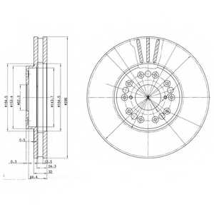 Тормозной диск DELPHI BG2829 - изображение
