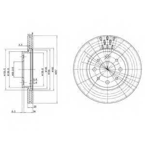 Тормозной диск DELPHI BG2830 - изображение