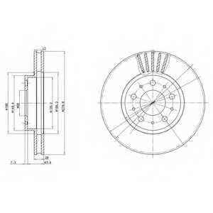 Тормозной диск DELPHI BG2841 - изображение