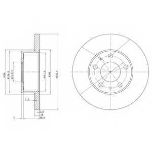 Тормозной диск DELPHI BG2845 - изображение