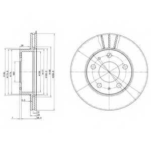 Тормозной диск DELPHI BG2847 - изображение