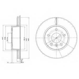 Тормозной диск DELPHI BG2860 - изображение