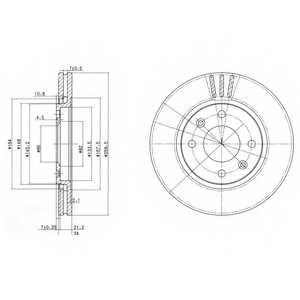 Тормозной диск DELPHI BG2871 - изображение