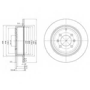 Тормозной диск DELPHI BG2873 - изображение
