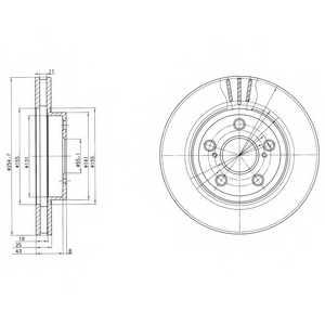 Тормозной диск DELPHI BG2880 - изображение