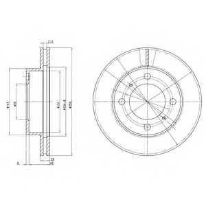 Тормозной диск DELPHI BG2891 - изображение