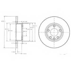 Тормозной диск DELPHI BG2898 - изображение
