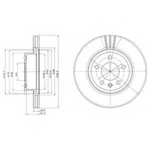 Тормозной диск DELPHI BG2908 - изображение