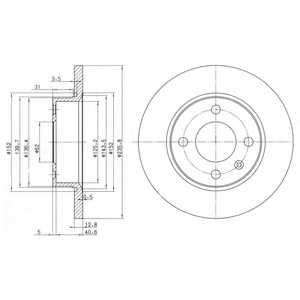 Тормозной диск DELPHI BG2910 - изображение