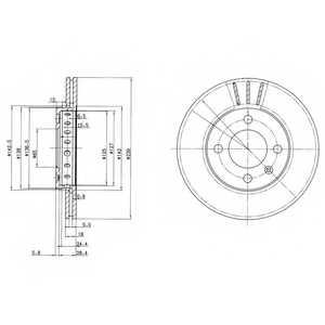 Тормозной диск DELPHI BG2982 - изображение