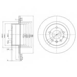 Тормозной диск DELPHI BG2986 - изображение