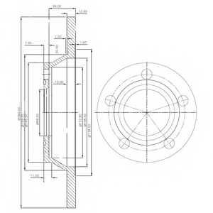 Тормозной диск DELPHI BG2987 - изображение