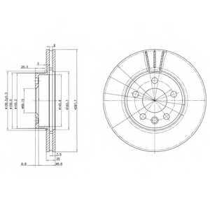 Тормозной диск DELPHI BG3025 - изображение