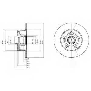 Тормозной диск DELPHI BG3030 - изображение