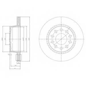 Тормозной диск DELPHI BG3031 - изображение