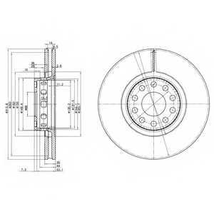 Тормозной диск DELPHI BG3033 - изображение