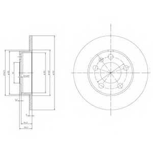 Тормозной диск DELPHI BG3034 - изображение