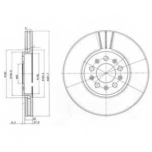 Тормозной диск DELPHI BG3035 - изображение