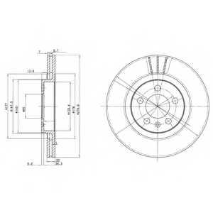 Тормозной диск DELPHI BG3036 - изображение