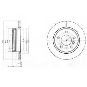 Тормозной диск DELPHI BG3041 - изображение