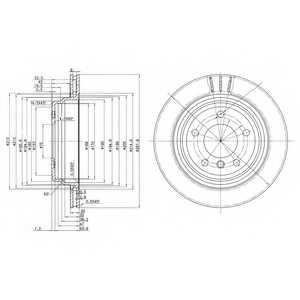 Тормозной диск DELPHI BG3042 - изображение