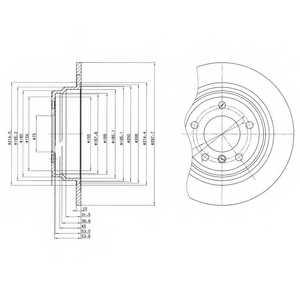 Тормозной диск DELPHI BG3044 - изображение