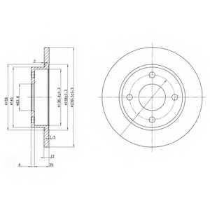 Тормозной диск DELPHI BG3055 - изображение