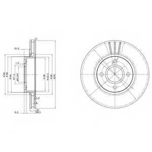 Тормозной диск DELPHI BG3056 - изображение