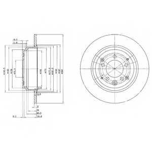 Тормозной диск DELPHI BG3060 - изображение