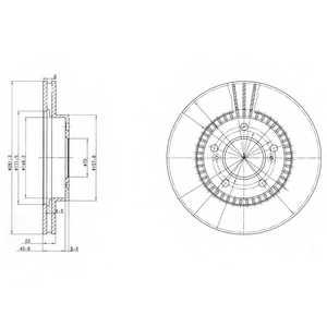 Тормозной диск DELPHI BG3061 - изображение