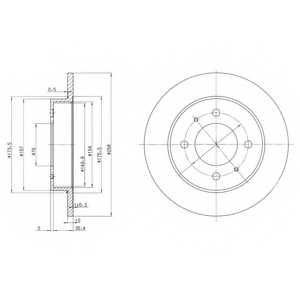 Тормозной диск DELPHI BG3070 - изображение