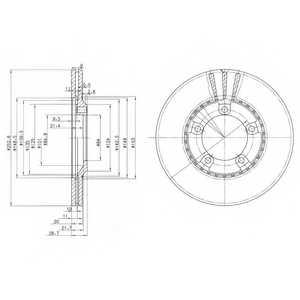Тормозной диск DELPHI BG3071 - изображение