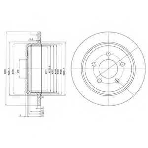 Тормозной диск DELPHI BG3073 - изображение