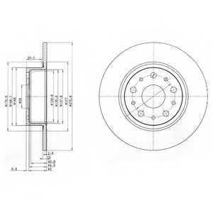 Тормозной диск DELPHI BG3076 - изображение