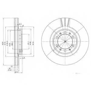 Тормозной диск DELPHI BG3099 - изображение