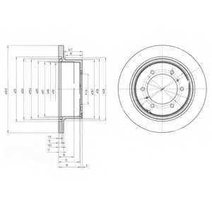 Тормозной диск DELPHI BG3105 - изображение