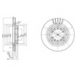 Тормозной диск DELPHI BG3115 - изображение