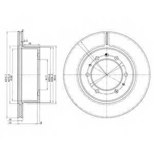 Тормозной диск DELPHI BG3117 - изображение