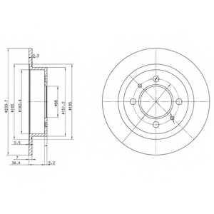 Тормозной диск DELPHI BG3126 - изображение