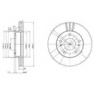 Тормозной диск DELPHI BG3127 - изображение